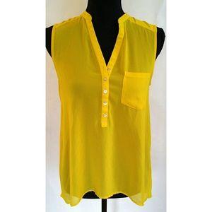 H&M Sunny Lemon Yellow Top sz. 4